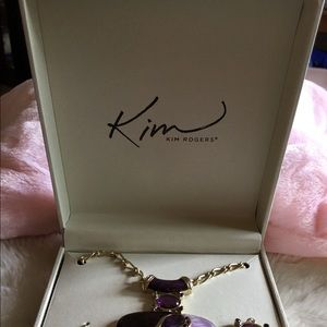 Kim Rogers Jewelry - Necklace with matching earrings